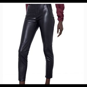 Zara Faux Leather Ankel Pant Leggings Black